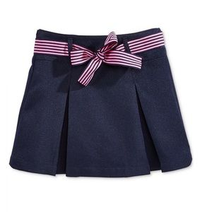 School Uniform Contrast Scooter Skirt, Big Girls